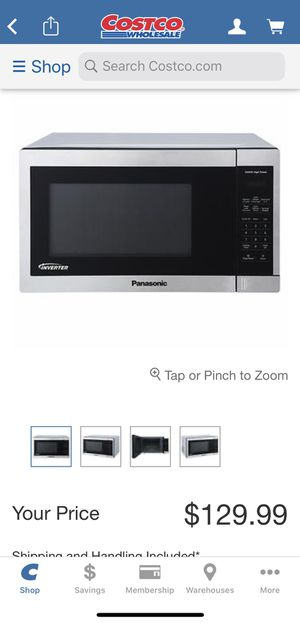Panasonic 1.3cu ft stainless steel countertop microwave oven for Sale in Tinley Park, IL