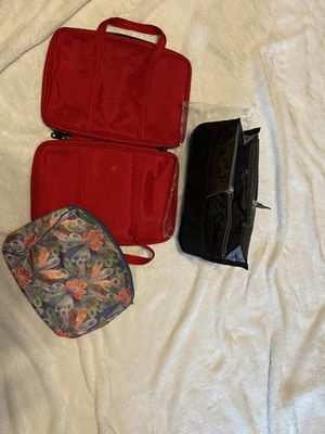 New purse Insert (black) and 2 slightly used makeup bags for Sale in Florissant, MO