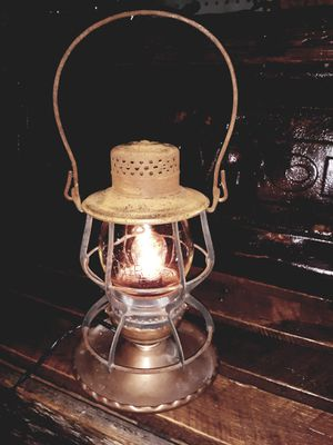 Antique Railroad Lantern Lamp for Sale in Easley, SC