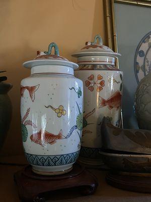 2PC Oriental Koi Decor for Sale in Chattanooga, TN