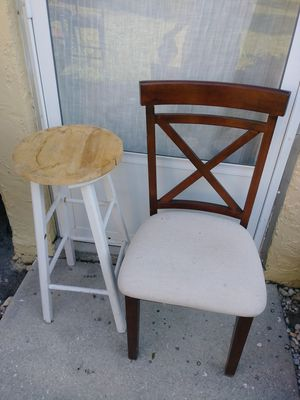 Lonely chair and/or stool. Price is each for Sale in Fort Myers, FL