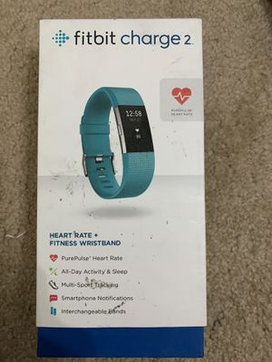 Fitbit Charge 2 Heart Rate Fitness Sleep Tracker Teal Small for Sale in Reedley, CA