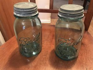 Pair of glass jars for Sale in Buffalo, NY