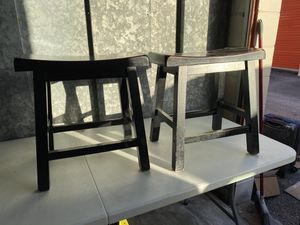 Wooden stools, color black, excellent condition for Sale in Longwood, FL