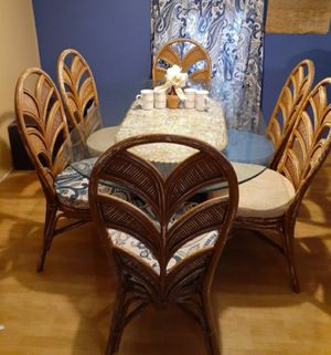 Wicker kitchen table for 6 for Sale in Orlando, FL