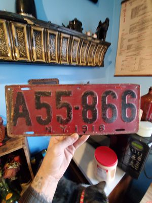 1916 New York license plate (repaint wrong color) for Sale in Columbus, OH
