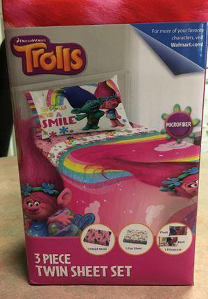 Brand new trolls three-piece twin Sheet set. for Sale in Lampasas, TX
