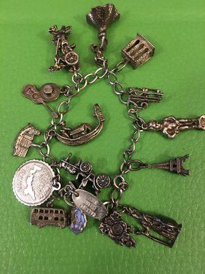 Sterling silver charm bracelet for Sale in Lakeside, CA