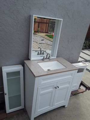 Bathroom sink + mirror + cabinets for Sale in San Leandro, CA