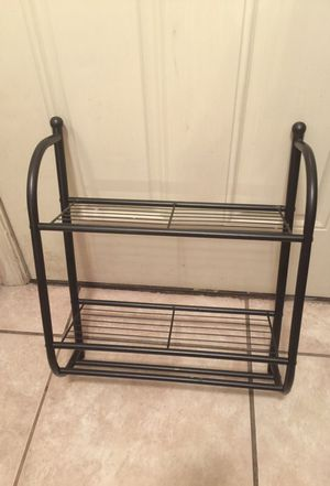 Black over the toilet towel rack for Sale in Ocala, FL