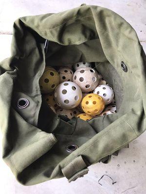 Huge duffle bag of whiffle balls!!! for Sale in Chandler, AZ