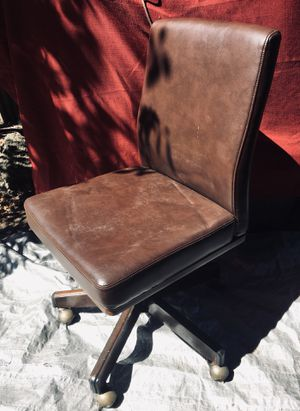 Nice ANTIQUE/RETRO, office desk chair REAL LEATHER for Sale in Castro Valley, CA