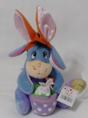 NEW Disney Store Exclusive Easter Bunny Rabbit Eeyore Plush Bean Bag Doll for Sale in Homestead, FL