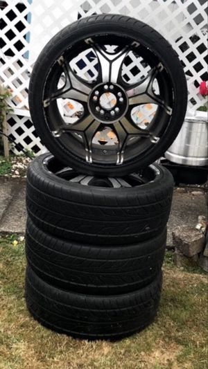"20"" universal rims new tires for Sale in Renton, WA"