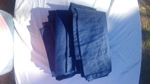 2 Navy blue curtains $10 for Sale in Tomball, TX