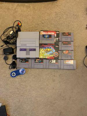 Super Nintendo + 10games for Sale in Renton, WA