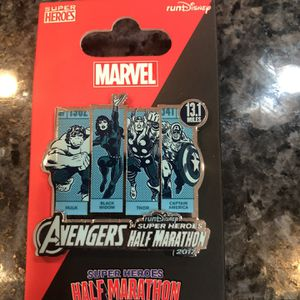 Collectible Marvel Half Marathon 2017 Pin Brand New. Avengers Half Marathon Pin for Sale in Cerritos, CA