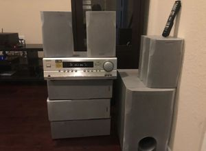 7.1 110W/Ch Onkyo Receiver with 7.1 Speakers for Sale in Richmond, TX