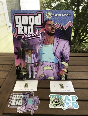 Trap Toys Good Kid Vice City Bootleg Action Figure Cartel Kenny by Ian Klarer for Sale in Lakewood Ranch, FL