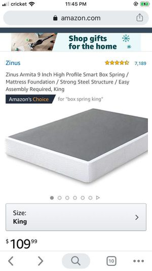 SALE!!! New Metal Smart box spring king size 50$ for Sale in Columbus, OH