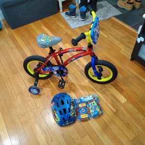 Kids Bicycle 12 Inches With Helmet Etc for Sale in Chestnut Hill, MA