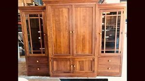 Entertainment Center- Ethan Allen- will sell TV/StorageHutch and two side shelves separate- also selling tables separately for Sale in Morgan Hill, CA