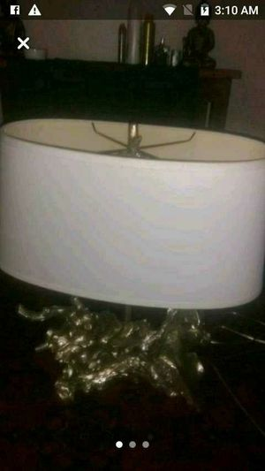 Large oval lamp shade stack of wild logs for the base for Sale in Columbus, OH