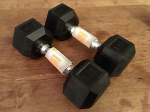 *NEW* CAP Standard Rubber Coated Dumbbells 15lbs Set for Sale in Washington, DC