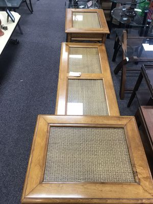 Light wood coffee table and 2 end tables for Sale in Piney Green, NC