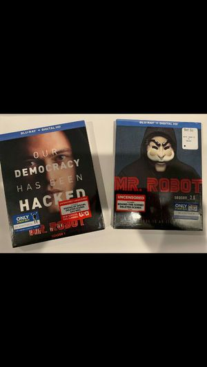 Mr Robot Season 1 & 2 Blu-ray Best Buy Exclusive with Slipcovers Decal Patch Brand New for Sale in Los Angeles, CA