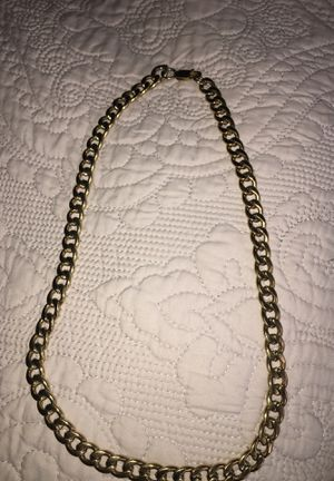 18K 24 inch Gold Plated Cuban Link Chain for Sale in West Jordan, UT