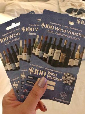 Wine voucher for Sale in Haymarket, VA