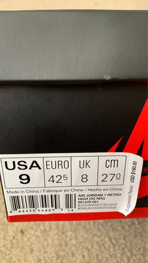Jordan 1 Homage to home non numbered size 9 for Sale in Rocky Hill, CT