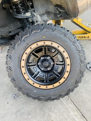 """17"""" New center line rims and mud tires 6 lug Chevy gmc Toyota 2657017 for Sale in Modesto, CA"""