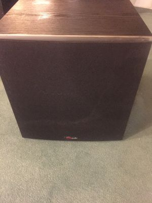 Polk Audio PWs10 Power subwoofer and 5) rm7 Speakers for Sale in Highland, IL
