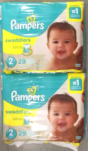 Pampers Swaddlers Diapers Sz 2, 29ct (Pack of 2) for Sale in Atlanta, GA