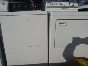 Whirlpool extra large-capacity washer with extra large capacity automatic dryer tooth pieces one prize for Sale in Grand Prairie, TX