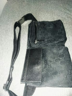 Gucci fanny bag, black monogrammed canvas, 100% authentic for Sale in Las Vegas, NV