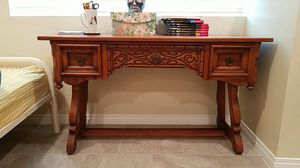 Beautiful solid wood antique desk for Sale in San Diego, CA