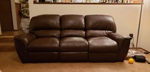 Brown Reclining Sofa for Sale in Redmond, WA