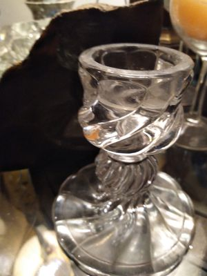 "Crystal candle holder 4"" for Sale in Long Beach, CA"