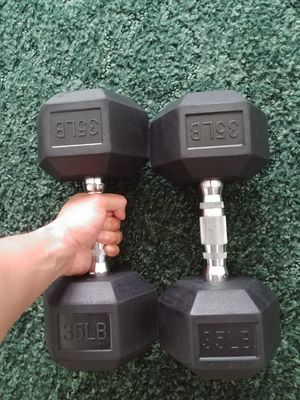 Pair of 35lb dumbbells for Sale in Corinth, TX