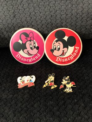 Walt Disney pins of Minnie and Mickey Mouse for Sale in Hesperia, CA