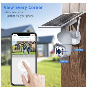 Wireless Security Camera Outdoor Solar Powered Battery PTZ Security Camera 1080P Waterproof IP Dome Cam with 2-Way Audio PIR Radar IP65 Full-Color Nig for Sale in Lilburn, GA