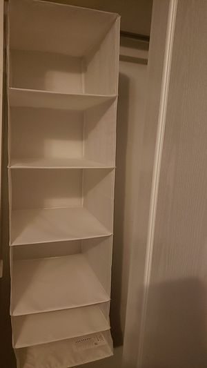 White fabric closet organizer for Sale in Arlington, TX