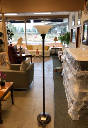 Glass and Metal Floor Lamp for Sale in Tacoma, WA