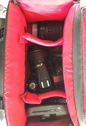 Nikon D7000 camera with 3 lenses, charger, and extra battery set for Sale in Aldie, VA