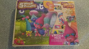 Brand new wooden puzzle Trolls!! for Sale in Vancouver, WA