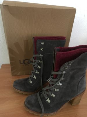 """Ugg Women's """"W Fabrice"""" Grey Suede Leather High Heel Boots Shoes Sz 11 $80 for Sale in Austin, TX"""