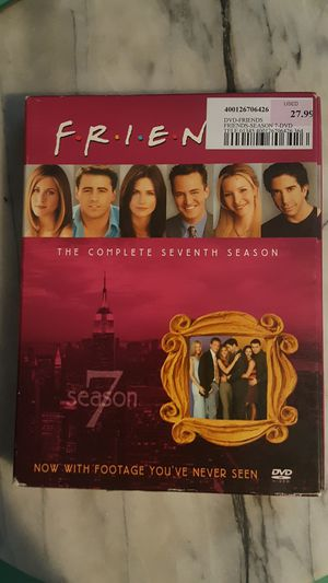 4 Disc DVD SET OF SEASON 7 BEST TV SHOW EVER FRIENDS 100% WORKS COMEDY FUN FAMILY for Sale in Scottsdale, AZ